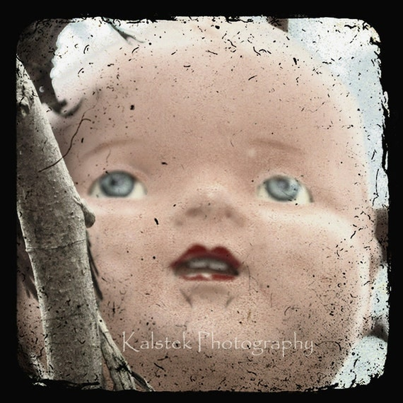 Vintage Doll Art Photograph Baby Doll Face Surreal Dreamy Soft TTV 8x8 Vintage Wall Decor