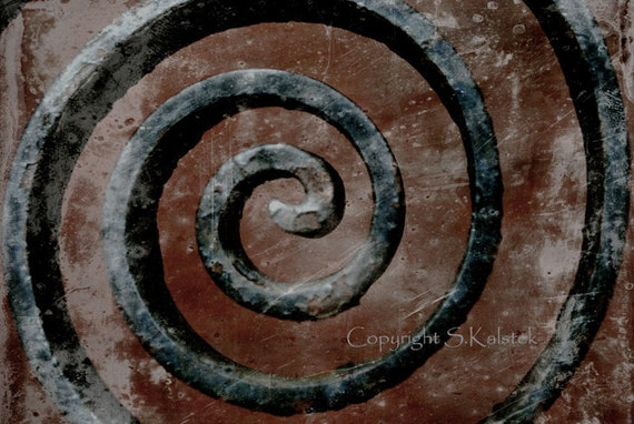 "Iron Curl Abstract Photograph Brown Black Modern Art Decor 8x12 Surreal Iron Abstract ""Hypnotic Curl"""