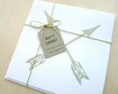 Vintage Arrows Folded Note Cards with Envelopes - Set of 2