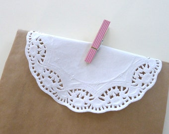 White Paper Doilies - Set of 20
