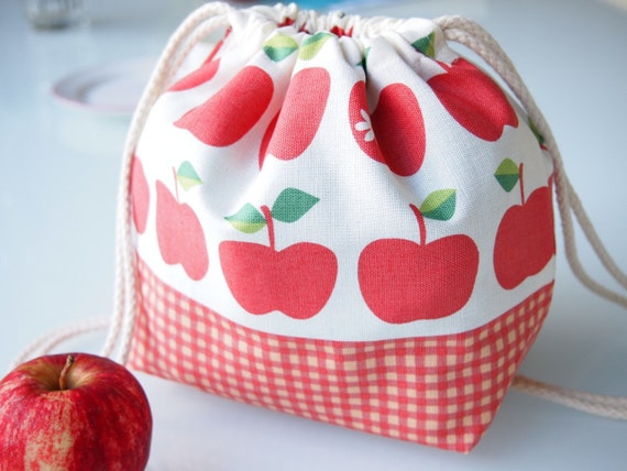Toddler Backpack Lunch Bag - Red Apples