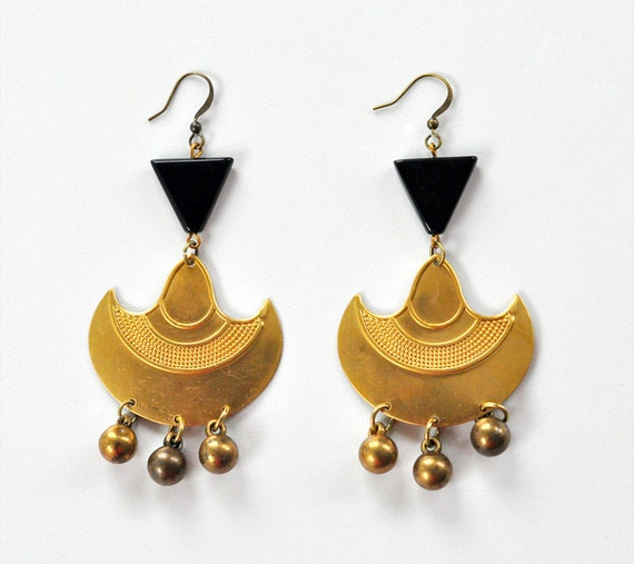 Triangle Tribal Earrings