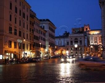 Roma, Italy 2009 - cobblestone street