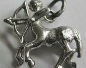 Vintage Sterling Sagittarious Horoscope charm