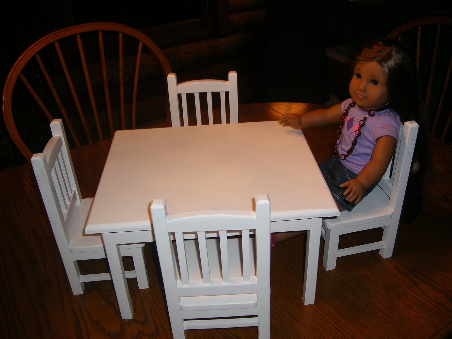 Table With 4 Chairs Set For 18 Inch Doll By Lanning83 On Etsy