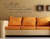 The will of God grace of God vinyl wall decal quote