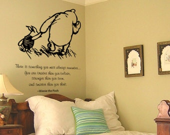 Classic Winnie the Pooh and Piglet You must always remember baby quote vinyl wall decal