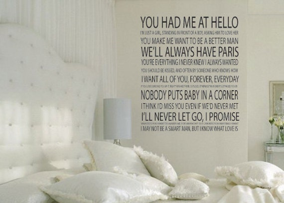 Romantic Movie Quotes: Unavailable Listing On Etsy