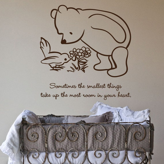 Winnie The Pooh Quotes Sometimes The Smallest Things: Items Similar To Classic Pooh Sometimes The Smallest