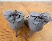 Grey Bow Detail Heels
