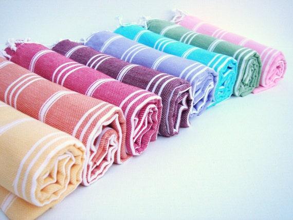 PESHKIR / Turkish HAND TOWEL/ Guest Towel / Kitchen -Tea Towel - Red