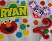 Fondant Sesame Street Inspired Decorations for a Special Birthday Cake