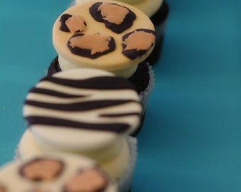 Animal Print Fondant Variety of Prints Cupcake, Cookie or Mini-Cake Toppers