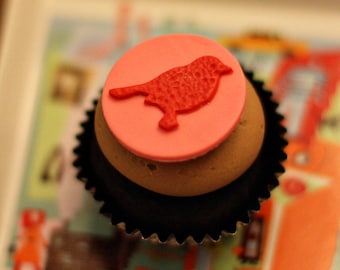 Bird Fondant Topper for Decorating Cupcakes, Cookies, Brownies or Mini-Cakes
