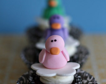 Rubber Duckie Fondant Toppers in a Variety of Colors Perfect for Baby Shower Cupcakes, Cookies or Mini-Cakes