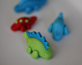Dinosaur Fondant Toppers for Cupcakes, Cookies, Brownies or other Treats