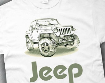Jeep T-Shirt in White ,Ash Grey ,Sand , S,M,L,XL,XXL