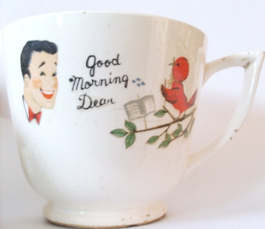 Good Morning Vintage Photos : Vintage good morning dear old grouch mug s era