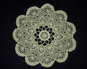 Crochet Doily Sage Green Lace