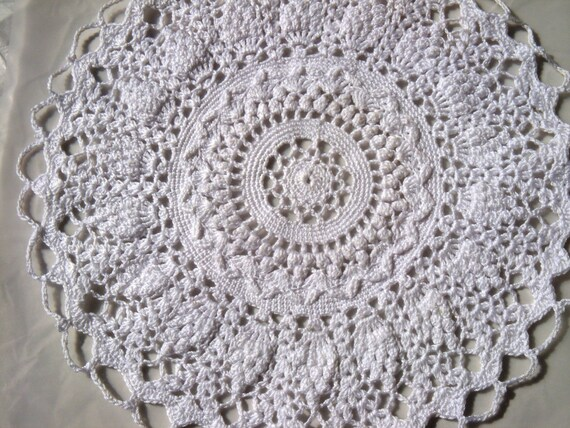 Elegant White Round Doily