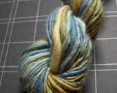 Handspun Yarn - Over the Ocean, Polwarth wool, soft and warm, single ply, sport weight