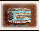 Bead Embroidered Southwestern Bracelet