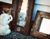 Reclaimed Wood Rustic Mirror Trio Brown