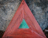 Rustic Triangluar Decorative Mirror