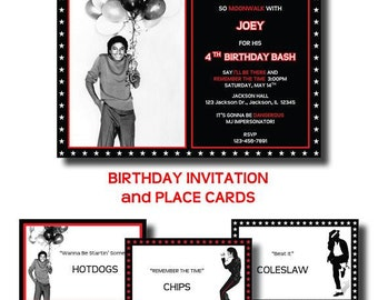 Michael Jackson Birthday Party | Michael Jackson Party | Michael Jackson Party Supplies | Printable Party Invitations | Printable Party