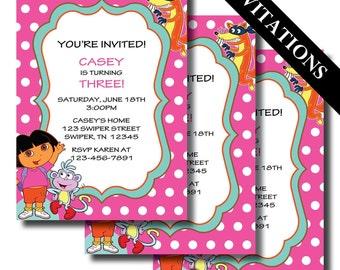 Dora Cake Etsy - Dora birthday cake toppers