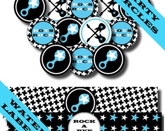 Rock and Roll Invitations, Rock and Roll Baby Shower, Rock a Bye Baby Shower, Rock and Roll Baby Shower