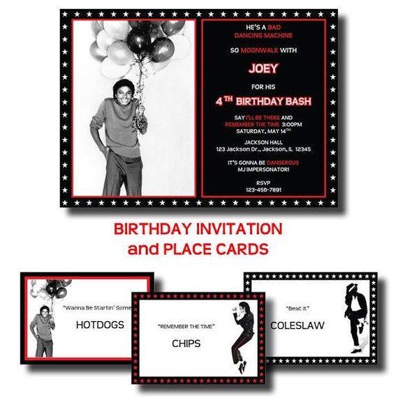 Michael jackson birthday party by lesliemariedesigns on etsy