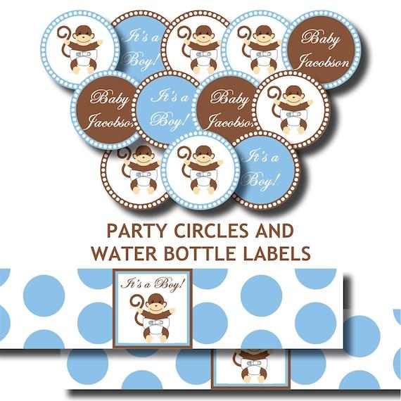 monkey polka dot baby shower or birthday party printable