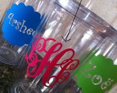 Personalized Clear Acrylic Tumblers