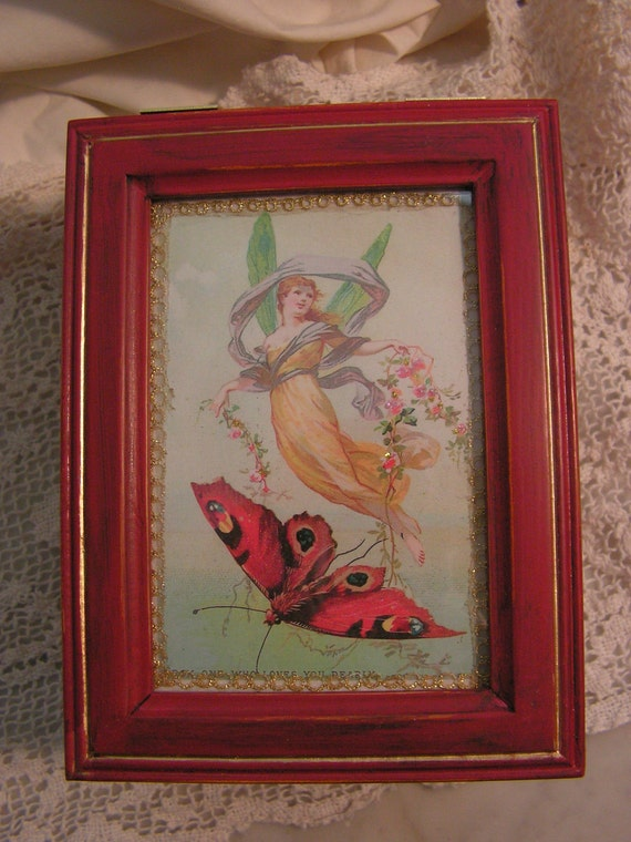 Butterfly & Angel Jewelry / Trinket Box