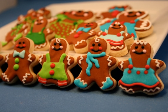 Gingerbread Man Mini's 3 dozen Christmas Sugar Cookies