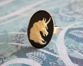 White Queen Unicorn Ring
