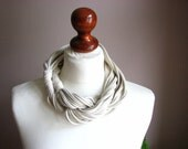 ZAMOTKA cotton scarf necklace CREAM