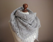 Grey lace wrap
