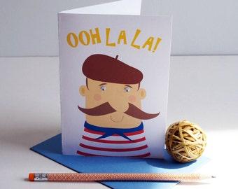 Ooh La La... thank you greetings  card