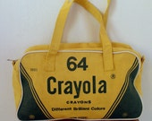 Vintage Bag Crayola Yellow and Green