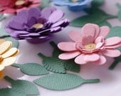 Custom Listing for Jade - Flower Stickers, Envelope Seals, in shade of Purple and Pink, Set of 25 Flowers