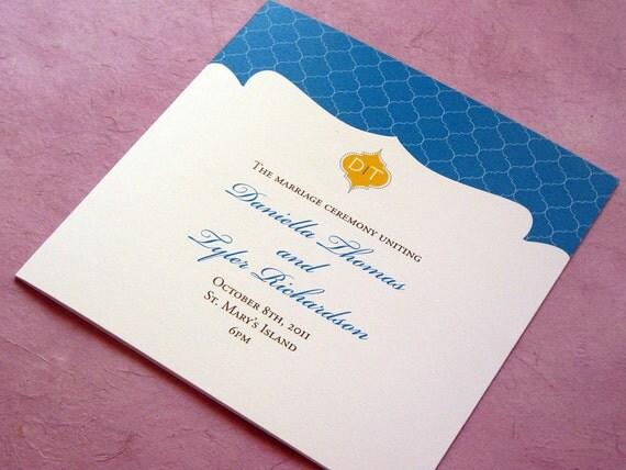 RESERVED for Kya - Indian Lattice Wedding Ceremony Program Printable
