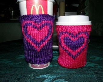 Hot or Cold Knit Cup Cozy 2 Sleeves