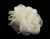 Pure Silk Bridal Flower Comb Bridal Hair Flower Bridal Headpiece Wedding Headpiece Wedding Flower Comb Bridal Hair Accessory, Fall Wedding