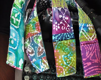 DSLR Padded Camera Strap Cover Batik Prints-Made to Order-OOAK