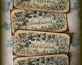SALE - Dark and Deadly - Poisonous Herb Stickers