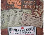 SALE - Vintage Poisons - Sticker Label Set
