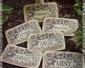 A Garden Herbal Array - 12 Sticker Labels