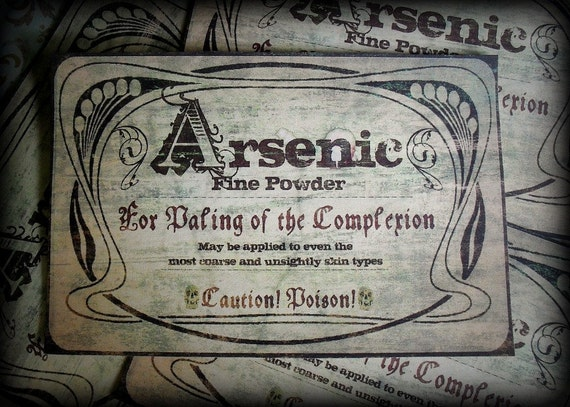 Arsenic Sticker Labels